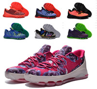 Wholesale Cheap Kd V Shoes - Kd 8 VIII Kevin Durant Cheap Kids Basketball Shoes Kd8 Aunt Pearl Sneakers ASG Suit V-8 Bright Crimson USA Children Shoes Size 5~7