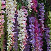 Wholesale Artificial Silk Flower Elegant Wisteria Vine Wedding Centerpieces Decorations Bouquet Garland Shooting Props Color New Arrival