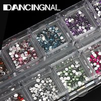 art pencil cases - Nail Art Design Flat Round Rhinestone Tips Case pc Pencil Picking Gel Pen Set