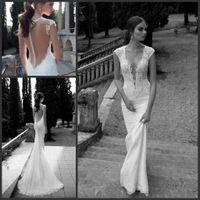 Cheap Deep V Neck wedding dresses Best Covered Button Wedding Dresses