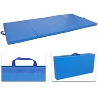 yoga mat - x8 x2 quot Yoga Mat Gymnastics Gym Folding Stretching Exercise Aerobics Mats Blue mat