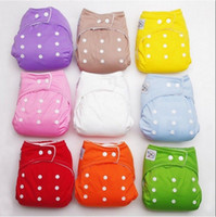 Wholesale New Inserts Adjustable Resuable Baby Washable Cloth Diaper Nappies Random Color