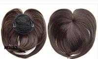 Wholesale 8 Colors Top Closure short synthetic wigs Hair Fringe Bang Hair Bangs Extension Blonde Bang Synthetic Hair Piece False Hair