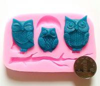 Wholesale DIY Three Owls Fondant Mold D Fondant Cake Decorating Tools Fondant Tools FM022