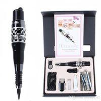 piercing needles - High quality Permanent Makeup Machine Kit Black Mosaic Tattoo Pen Power Tattoo Needles