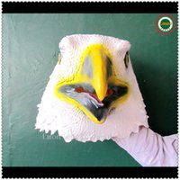 atlanta hawk - Funny Cosplay Latex Eagle Mask Costume Hawks face head mask Atlanta party christmas halloween Full Head Mask