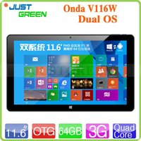 Wholesale 11 inch FHD IPS Onda V116W G Dual OS Tablet PC Android Windows Intel Z3736F Quad Core GB RAM GB ROM MP HDMI OTG