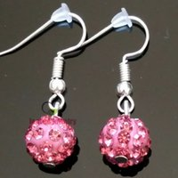 beautiful plastic plates - New sexy crystal disco ball charm Pink lip color Earrings Statement Jewelry Drop earrings fashion for women Do a beautiful queen