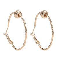 basketball wives earrings for sale - Hot Sale Simple Fashion Rose Gold Silver Plated Big Hoop Earring For Women Wedding Hoop Earrings Basketball Wives Earring