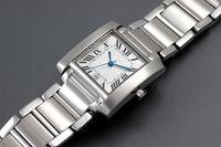 automatic tank watch - NEW Arrive brand luxury Ladies watch fashion quality quartz tank white stainless steel womens watches Wristwatch