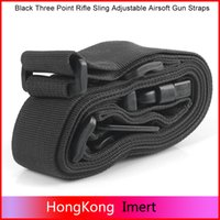 Wholesale New Tactical Three Point Rifle Sling Adjustable Bungee Tactical Airsoft Gun Strap System Paintball Gun Sling for Airsoft Hunting