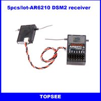 airplane plastics - Ghz RC CH receiver channel DSM2 DSM X AR6210 for JR DX6i DX7 DX8 of Helicopters Airplane Quadcopter