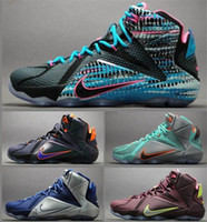 free shipping for basketball shoes - 2015 New Nike Lebron XII Basketball Shoes For Men Fashion Top Quality Elites James Sport Sneakers Eur