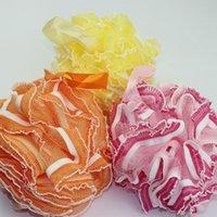 bath puff - 53g bathroom Products Lace Bath Puff Tuba Sponge Cotton Multi Foam Bath Ball Portable Hanging Bath Flower mesh bath sponge
