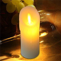 Wholesale x13cm Battery Operated Flameless LED Candle with Moving Flame Wick Pillar Simulation LED Wax Candle with Tears