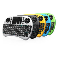 Wholesale RII i8 Mouse with rechargeable battery G Mini Wireless Keyboard with Touchpad Remote Control for PC Pad Google Andriod TV Box Xbox360 PS3