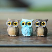 artificial doll - Sale artificial mini cute owl birds dolls fairy garden miniatures gnome moss terrarium decor resin crafts bonsai home decor for DIY