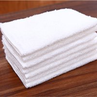 Wholesale 10 Thickening pure bamboo fibre wash towel double layer non stick oil dishclout wool absorbent towel white