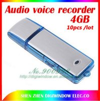Wholesale 10pcs GB USB Flash Disk with Digital Voice Recorder in audio voice recorder