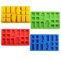 Wholesale Minifigure Building Brick Silicone Ice Tray Candy Chocolate Mold For Lego Lover H2010215