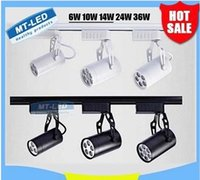 Wholesale x20 BEST quality Led Track Light W W W W W COOL Warm white Led Ceiling Spotlight AC V led spot lighting CE ROHS UL