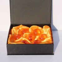 Gold crystal ball wholesale - 3 CM New In Box DragonBall Stars Crystal Ball Set of Dragon Ball Z Balls Complete set