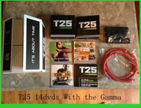 Cheap 2015 Hot Workout Shaun T Focus Fitness Tutorial T25 14 DVD Workout Alpha Beta Core With Resistance Band hottest Factory Sealed Can Mix Order