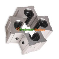 Wholesale 4pcs SBR12UU mm Aluminum Open Linear Router Motion Bearing Solide Shaft Block