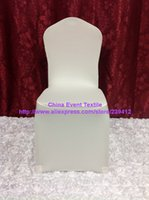 Wholesale 100pcs Extra Thicker Lycra Chair Cover Flat Front Wedding Chair Cover For Wedding Events Party Baquet Decoration