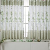 bamboo textile products - 2015 Best Selling PC X200CM Bamboo Printed Window Screens Curtain Modern Style Calico Finished Product Cloth Home Textile