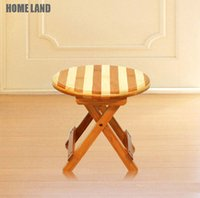 Wholesale Home Kitchen Garden stripe wood Multi Purpose Folding Step Foot Stool Foldable Protable Mini Chair Easy Storage cm cm cm