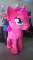 Wholesale OISK One Person Stand up my little pony legged PINKIE Mascot Costumes Halloween Christmas Birthday Party Dress Costume Adult outfit