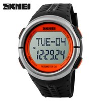 best digital pedometer - Best heart rate monitor watch SKMEI m pedometer Sport LED watches Wristwatch Reloj Calories Relogio for digital counter