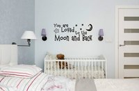 art shirt for kids - ticker shirts You Are Loved To The Moon And Back Wall Art Decals Home Decoration Bedroom Wallpaper Kids Room Decorative St