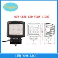 1000lm 6000K Spot Light 60W Cree LED Work Light Spot Flood for Motorcycle Tractor Boat Off Road 4WD 4x4 Truck SUV ATV 12v 24v Auto Parts