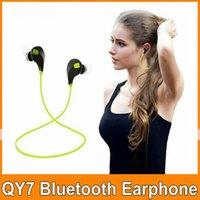 Wholesale QY7 Wireless Bluetooth Headphone Headset Earphone Sport Running Earphones for Apple Iphone s plus Samsung Galaxy S4 S5 S6 Mobile OM CA6