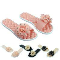 best massage sandal - Best Deal New Lovely Women Summer Camellia Flower Massage Shoes Sandals Flat Slippers shoes pc