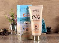 Wholesale ml Hanlou Perfumed Body Sunscreen Moisturizing Solarium Sunblock Lotion SPF45