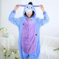 adult donkey costume - Hot sell Sleepwear Cosplay donkey Costume Flannel Halloween Christmas Pajamas Unisex Adult Pajamas