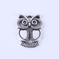 Wholesale New fashion silver copper retro Owl Pendant Manufacture DIY jewelry pendant fit Necklace or Bracelets charm