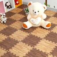 plastic playground - Hot Years New Safety Imitation Wood Baby Children Playground Plastic Foam Mats Bedroom Living Room Carpet Flooring Gym Floor Puzzle Mat