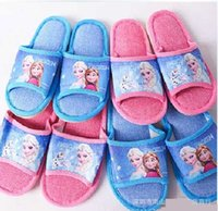 Wholesale EMS Free New Frozen Anna Elsa men and women Slipper adult Slippers sandals shoes girls sandal sport Cool Slipper S0762
