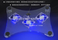 Wholesale USB Adapter Laptop Cooler NoteBook laptop stand ventilador Cool Pad Cooling Pad Heatsink Blue LED Fan For PC Laptop Notebook