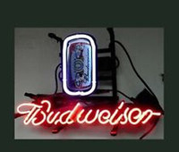 Orange beer can lamp - BUDWEISER CAN BEER Neon Sign Commercial Sign LAMP BAR Disco KTV Club NEON LIGHT SIGN STORE DISPLAY REAL Glass Tuble NEON quot X14 quot