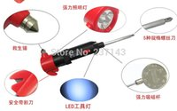 Wholesale in Multi function Emergency lifesaving hammer with LED light Emergency safety hammer Screwdriver