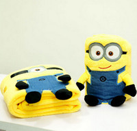 Wholesale Air conditioning blanket pillow Despicable Me Minion Minion siesta child car cushion a blanket blanket volumes