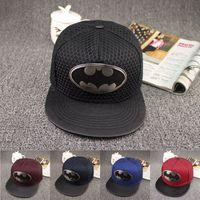 Wholesale Hot Fashion Summer Brand Batman Baseball Cap Hat For Men Women Casual Bone Hip Hop Snapback Caps Hats