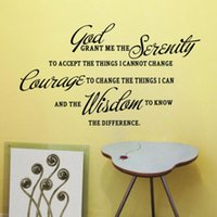 best grants - Best Price DIY PVC Art Words Wallpaper GOD GRANT ME THE SERENITY PRAYER BIBLE Removable Wall Stickers Home Room Decor x52cm