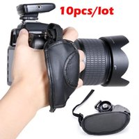 Wholesale 10pcs Camera Hand Grip Straps SLR DSLR Leather Wrist Strap For Canon EOS Nikon Sony Olympus SV010074