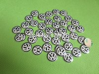 Wholesale 100pc Good Quality14mm FOB Remote Key Badge Sticker Car Emblem Auto Badges for Skoda VW VOLKSWAGEN Black White Blue White